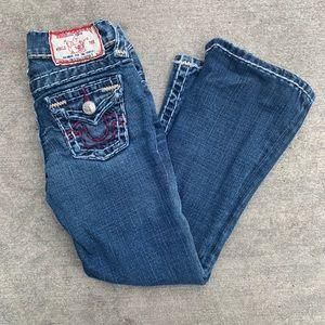 Little girls 5t tried religion Jeans